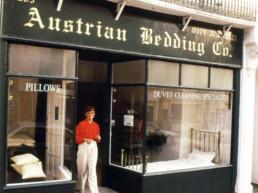 Austrian Bedding Co, shop front